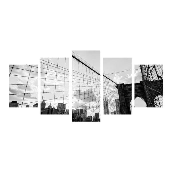 Vícedílný obraz Black&White Bridge