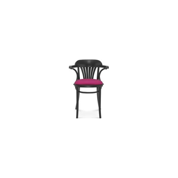 Dřevěná židle s růžovým polstrováním Fameg Mathias