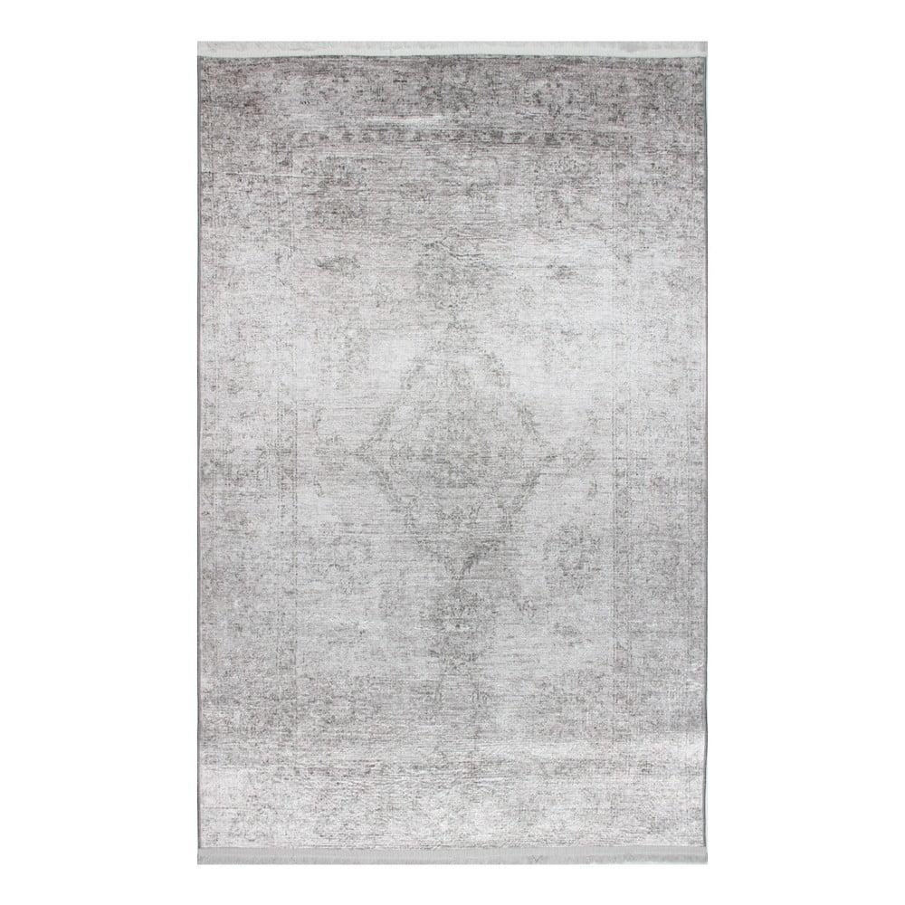 Světle šedý koberec Dianne, 75 x 150 cm