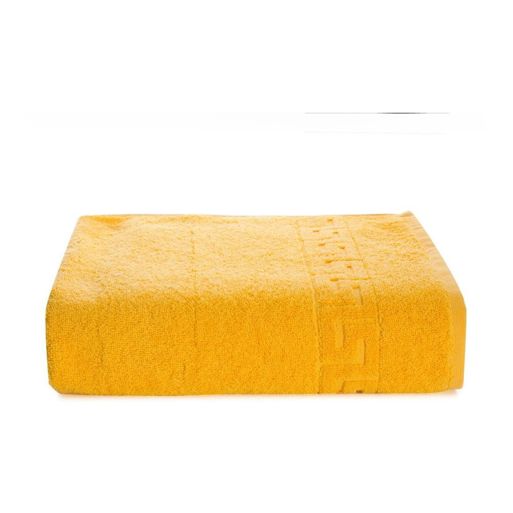 Žlutý bavlněný ručník Kate Louise Pauline, 50 x 90 cm