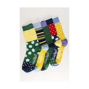 Sada 5 párů unisex ponožek Funky Steps Risa,velikost39/45