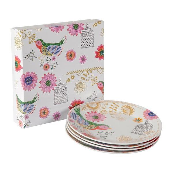 Sada 4 porcelánových talířů Envol, 20.5 cm