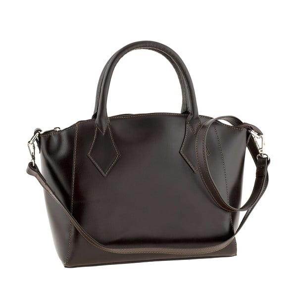 Kožená kabelka Gress Dark Brown