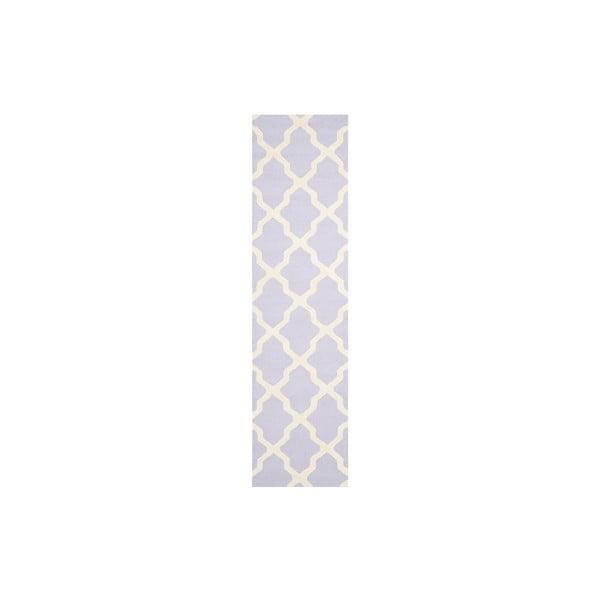 Vlněný koberec Ava 76x243 cm, fialkový