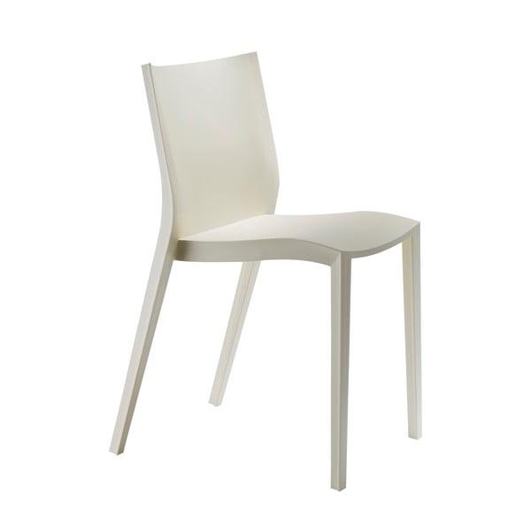 Sada 2 židlí Slick Slick, slonovinová kost