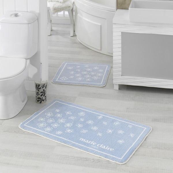 Sada 2 modrých koupelnových předložek Breeze