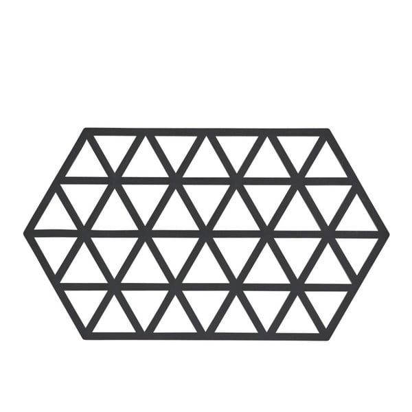 Triangles fekete szilikon edényalátét - Zone