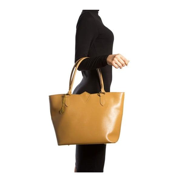 Koňakově hnědá kožená kabelka Isabella Rhea Roma