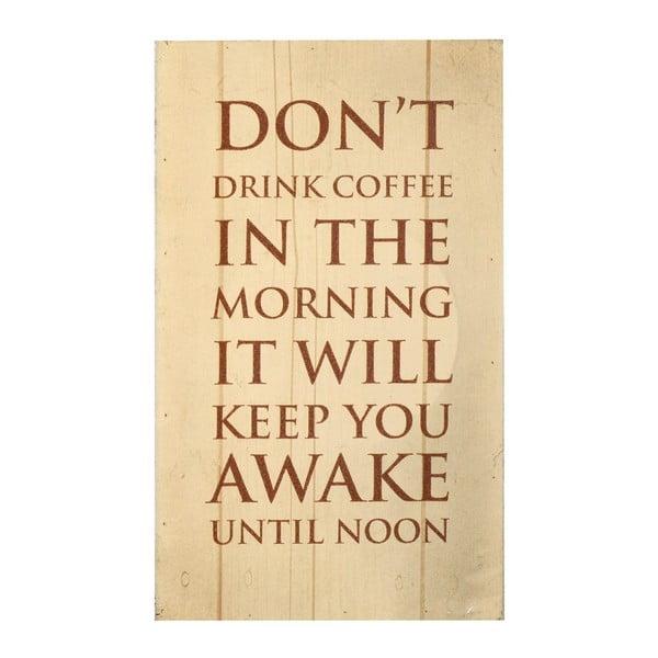 Dřevěná tabule Coffee