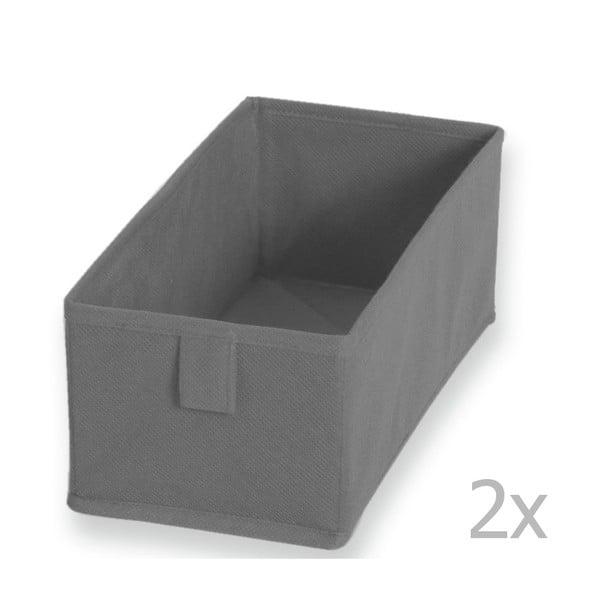 Set 2 cutii textile JOCCA 13 x 28 cm, gri