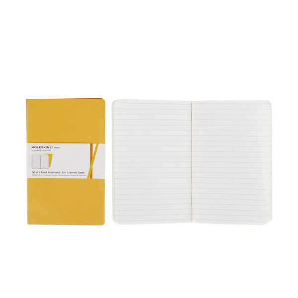 Sada 2 žlutých notesů Moleskine Volant, linkované