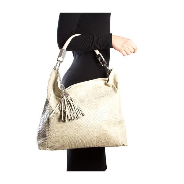 Kožená kabelka Foto, béžová
