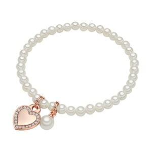 Brățară cu perlă albă ⌀8 mm Perldesse Die, lungime17cm