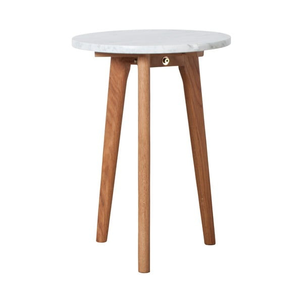 Odkládací stolek s deskou v dekoru kamene Zuiver, ⌀ 32cm