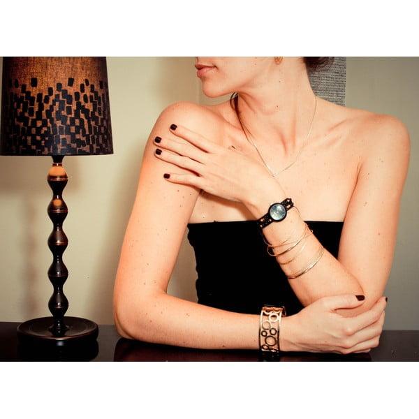 Korálkové hodinky Classic, Black Russian