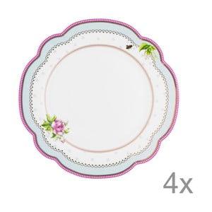 Porcelánový talíř  Lovely od Lisbeth Dahl, 19 cm, 4 ks