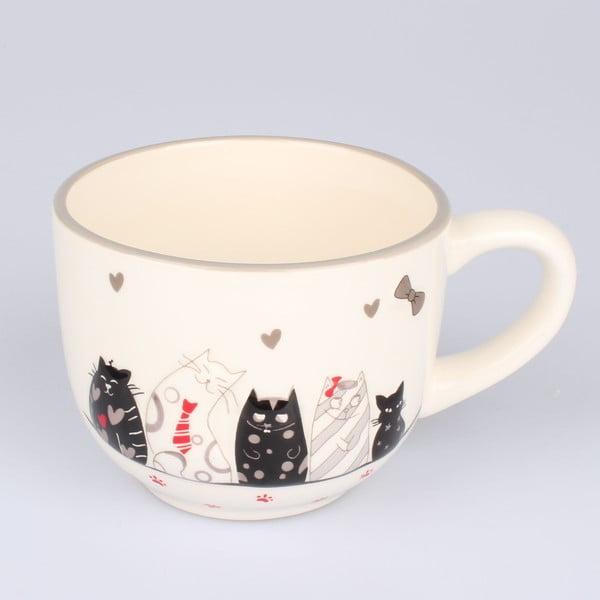 Cană ceramică Dakls Cats, 530 ml