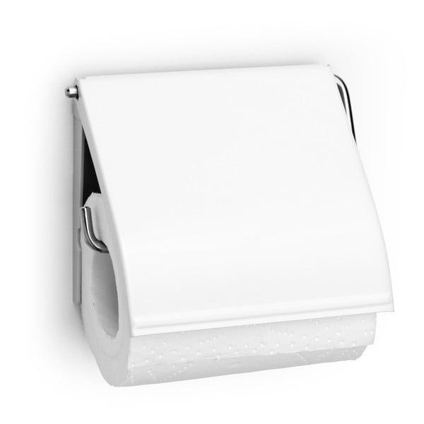 Bílý držák na toaletní papír Brabantia Spa