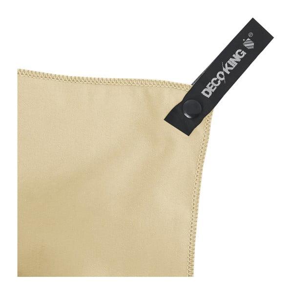 Sada 2 béžových rychleschnoucích ručníků DecoKing EKEA, 30 x 50 cm