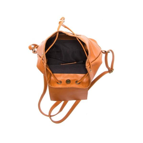 Hnědý kožený batoh Sofia Cardoni Fredo