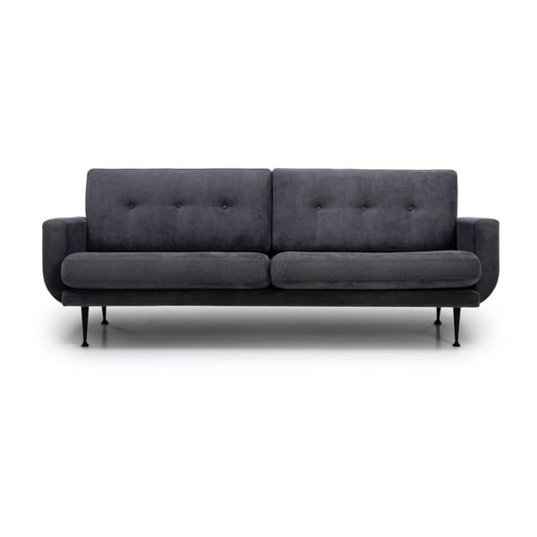Antracytowa sofa 3-osobowa Softnord Fly Gentle