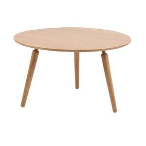 Přírodní konferenční stolek z dubového dřeva Folke Cappuccino, výška 45cmx∅80cm