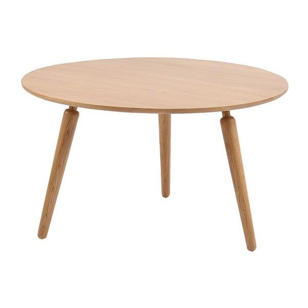 Masă cafea din lemn de stejar Folke Cappuccino, înălțime 45cmx∅80cm