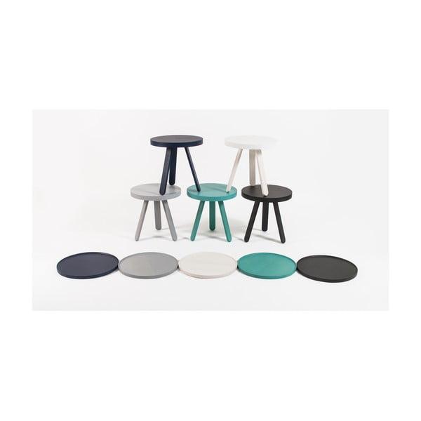 Černý odkládací stolek z jasanového dřeva s podnosem Woodendot Batea S