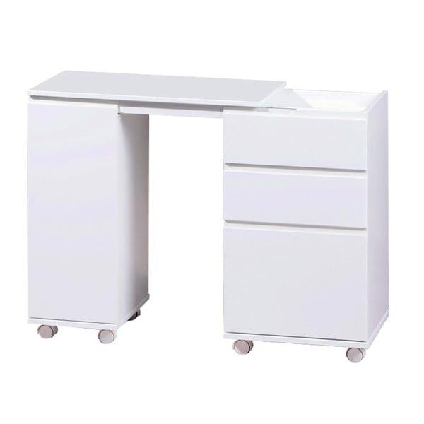 Bílý psací stůl na kolečkách 13Casa Movida