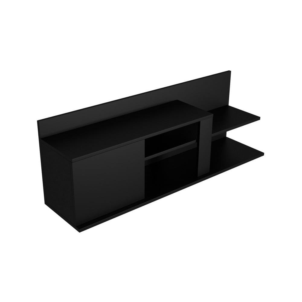 Černý TV stolek Marshall, šířka 120 cm