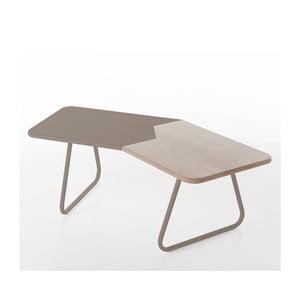 Kávový stolek Briciolo, šedý