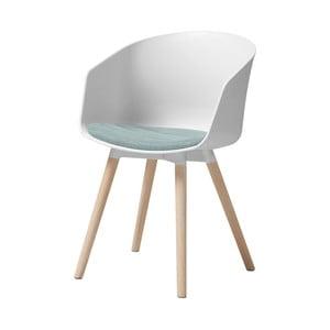 Bílá jídelní židle s dubovými nohami Interstil Moon Haze