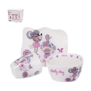 Sada 3 dětského jídelního nádobí z porcelánu Orion Myška