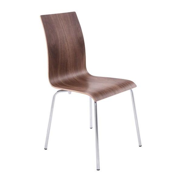 Jedálenský stolička so sedadlom v dekóre orechového dreva Kokoon Classic