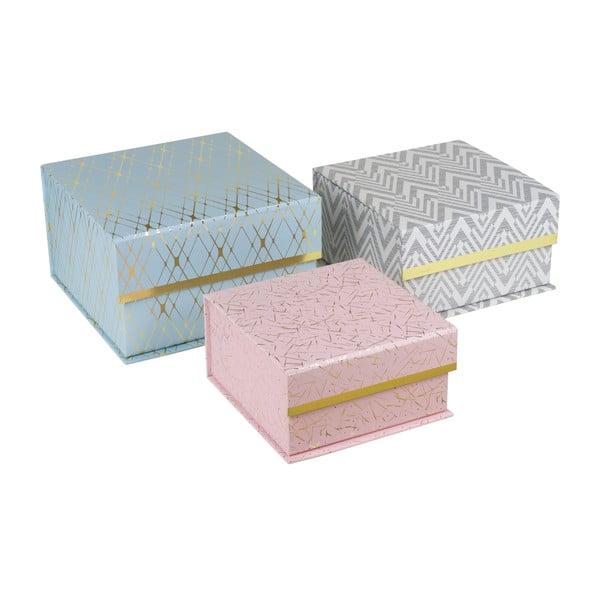 Sada 3 úložných krabic Stockholm Vibes
