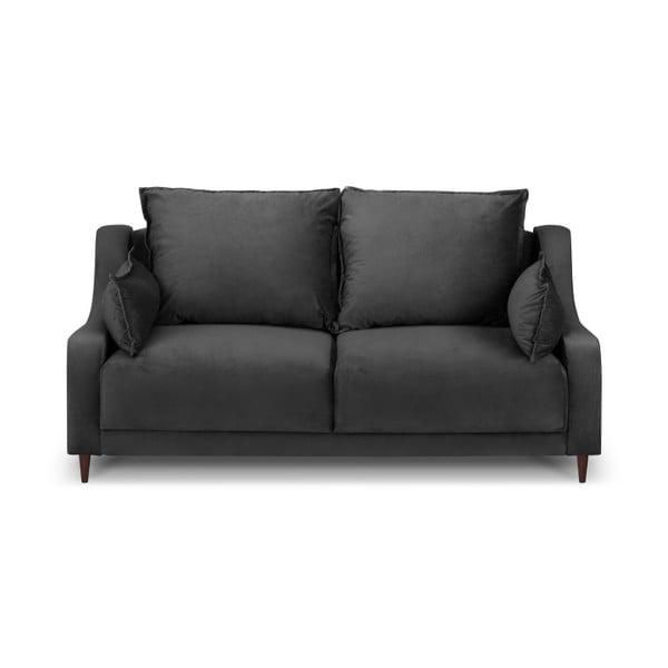Canapea cu 2 locuri Mazzini Sofas Freesia, gri închis