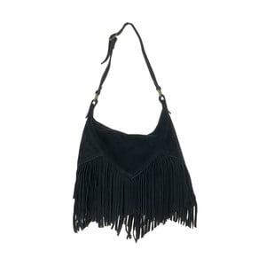 Černá kožená kabelka Tina Panicucci Straps