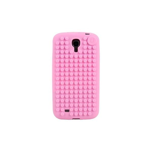 Pixelový obal na Samsung S4, růžová