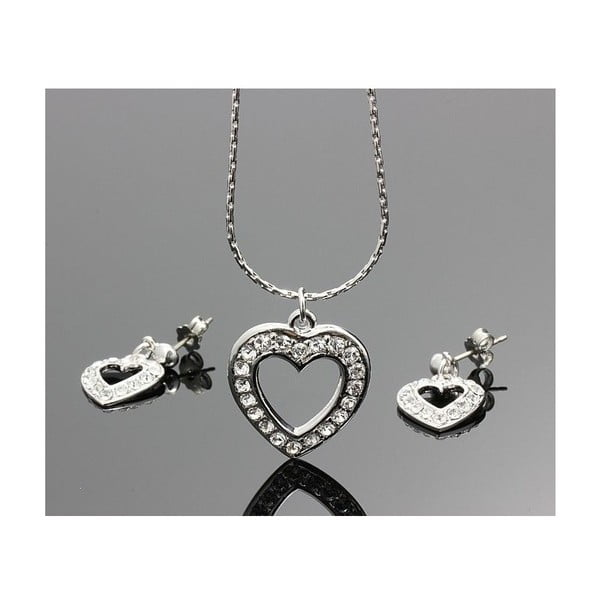 Set Swarovski Elements Real Heart