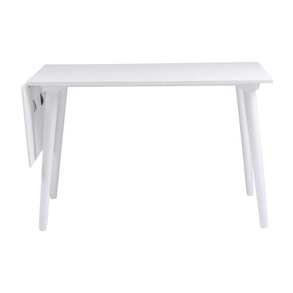 Lotte Leaf fehér tömör tölgyfa étkezőasztal, 120 x 80 cm - Rowico