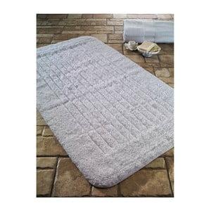 Bílá bavlněná koupelnová předložka Confetti Bathmats Cotton Stripe, 60 x 100 cm