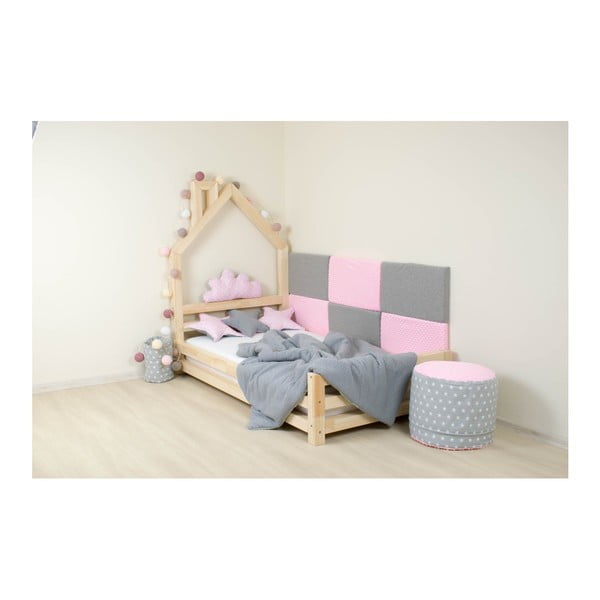Dětská bílá postel z borovicového dřeva Benlemi Wally,120x200cm