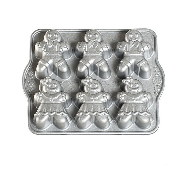 Forma na 6 babeczek w kolorze srebra Nordic Ware Girls And Boys, 1,1 l