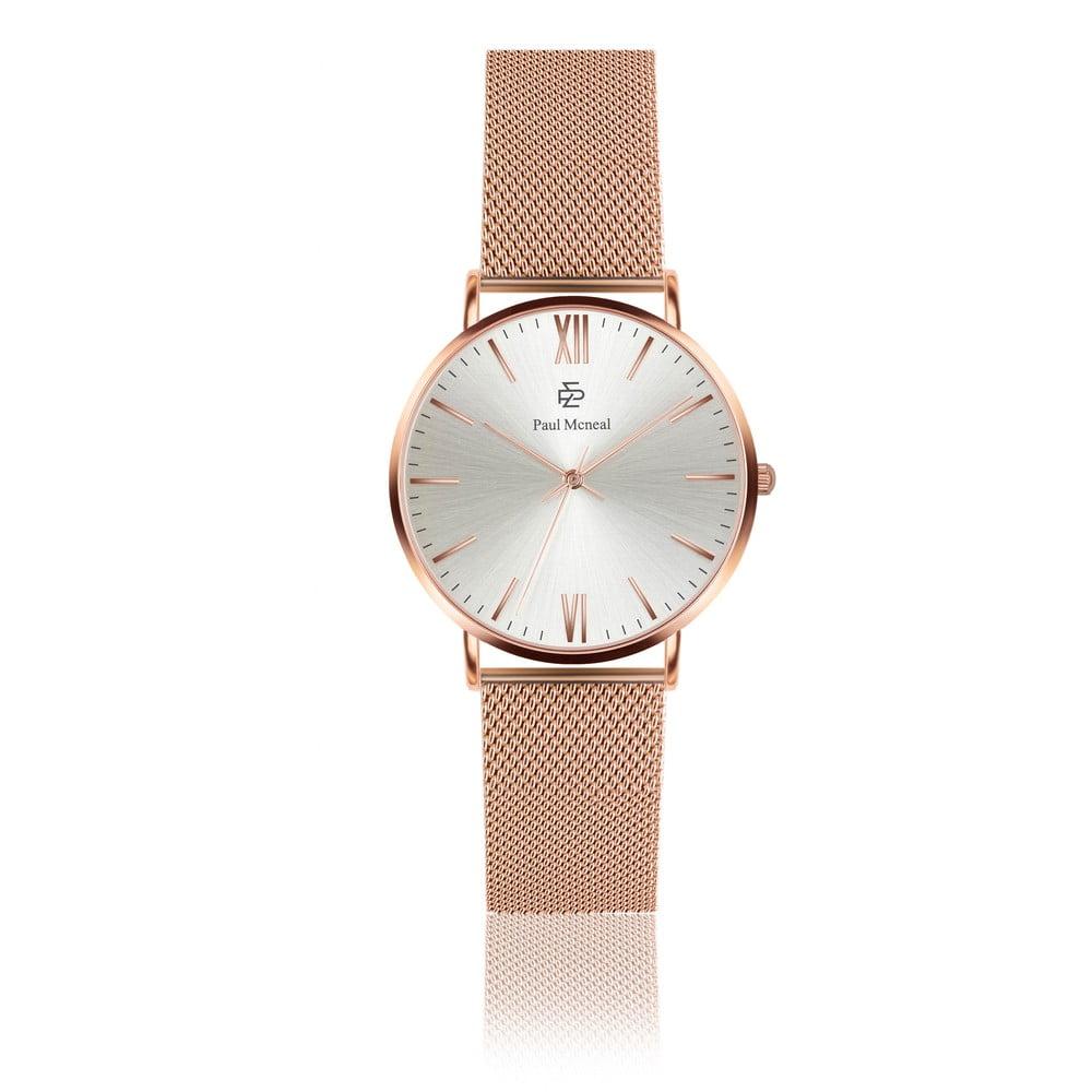 Dámské hodinky s páskem z nerezové oceli v růžovozlaté barvě Paul McNeal Hurgo