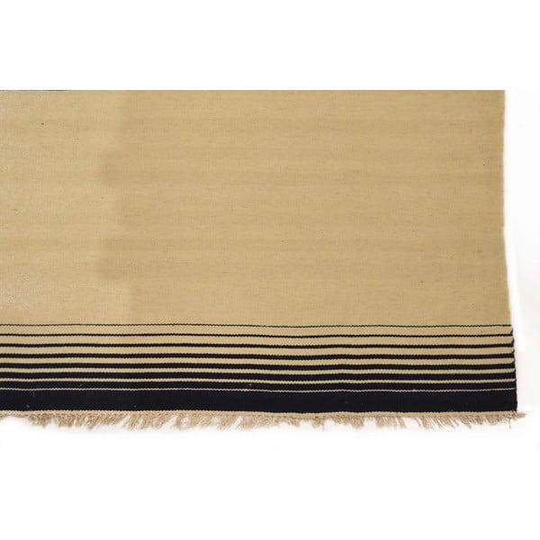 Ručně tkaný koberec Black and White Stripes, 170x240 cm