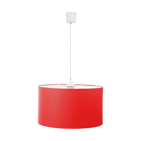 Závěsné světlo White Inside Three Red