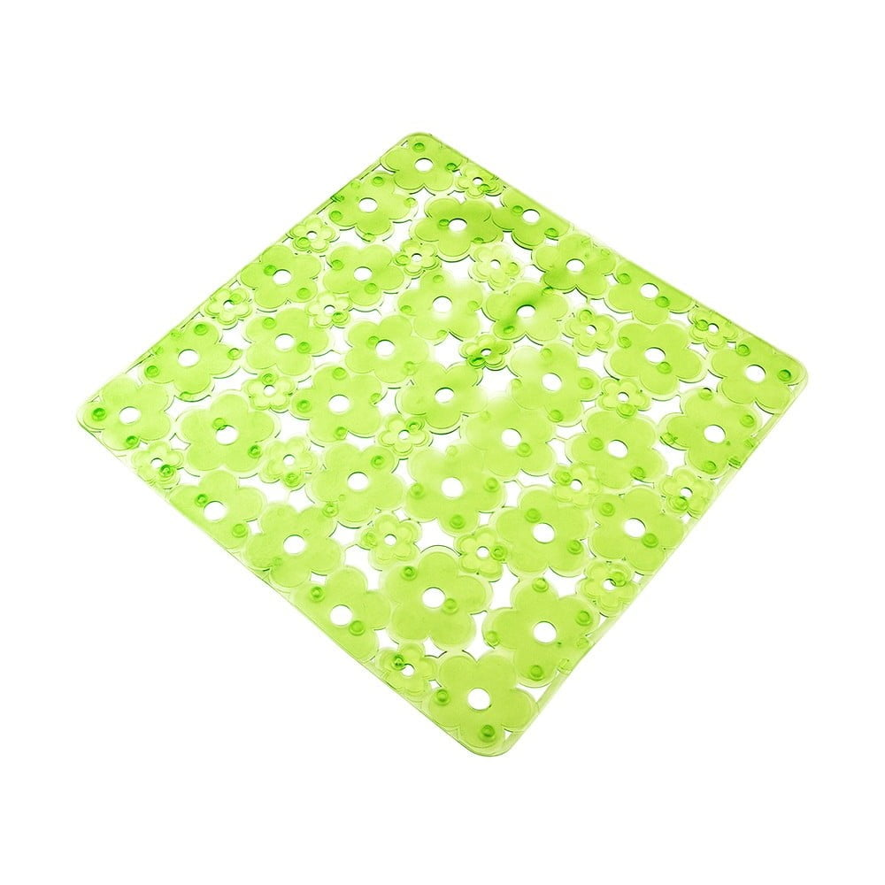 Zelená protiskluzová podložka do vany Metaltex, délka 52 cm