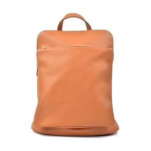 Světle koňakově hnědý kožený batoh Isabella Rhea Carrie