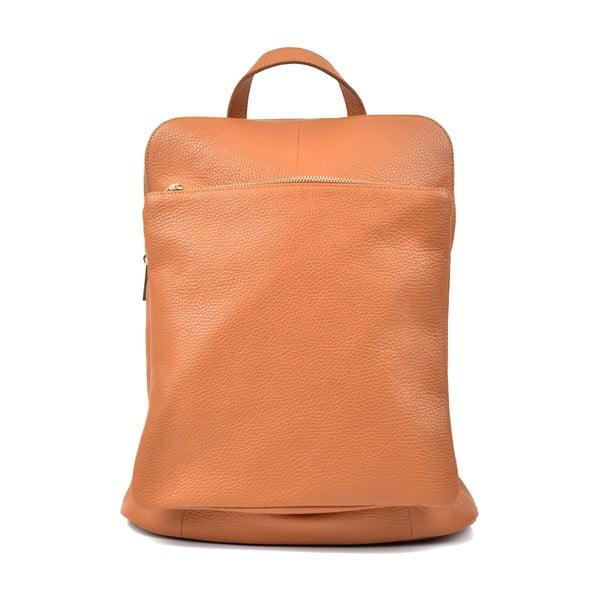 Brązowy skórzany plecak w odcieniu jasnego koniaku Isabella Rhea Carrie