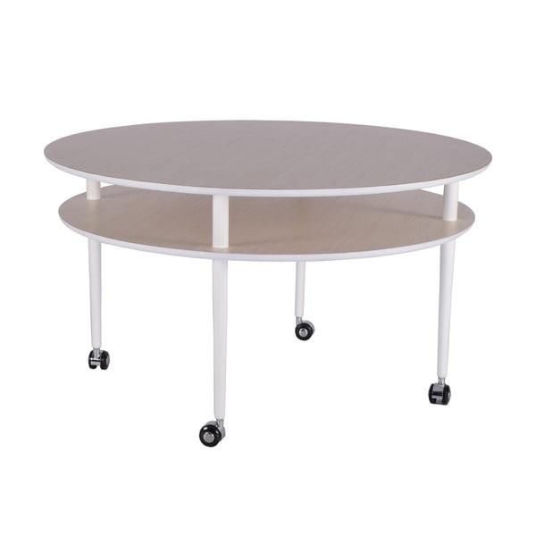 Konferenční stolek na kolečkách RGE Casper, ⌀90 cm